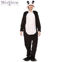 Оптовая продажа для женщин кигуруми панда пижамные комплекты одежда для сна  фланель животных пижамы Зима Единорог 6cbdd2cd5c6ea