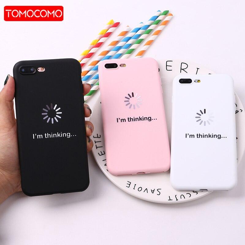 tomocomo for iphone 8 8plus x 7 7plus soft tpu silicone matte case girl sticker memes