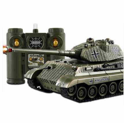 Réservoir de combat RC amusant télécommande tir réservoir à grande échelle radiocommande armée bataille modèle militaire RC réservoirs jouet