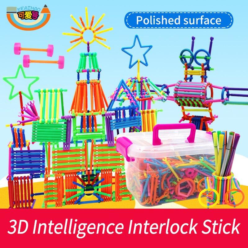 Intelligence Interlocking Sticks Kindergarten Teaching Kit Early Learning for Kids Educational Building Blocks Gifts