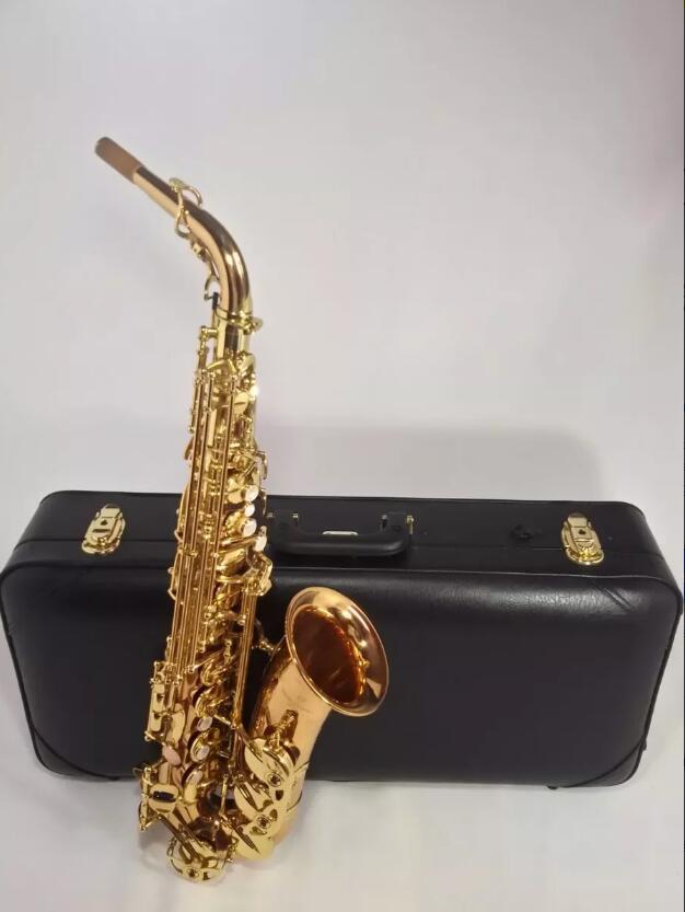 Japon Yanagisawa A-992 Laque D'or Sax Eb Alto Saxophone Professionnel En Laiton Instruments + embout + timbre