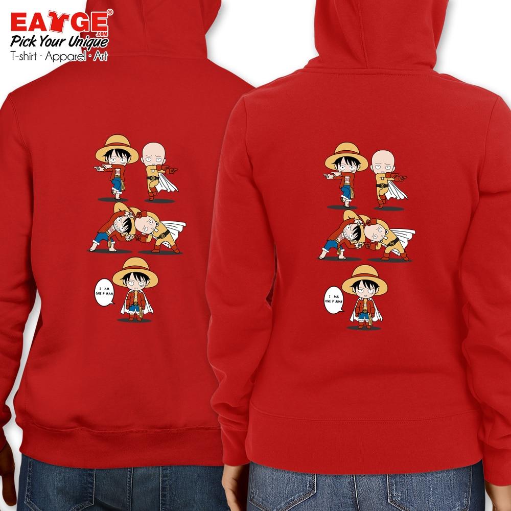 Men Women Black Sweatshirts Dragon Ball Goku Crossover One Piece Luffy Fleece Streetwear Strongest Anime Monkey Hoodies Men's Clothing