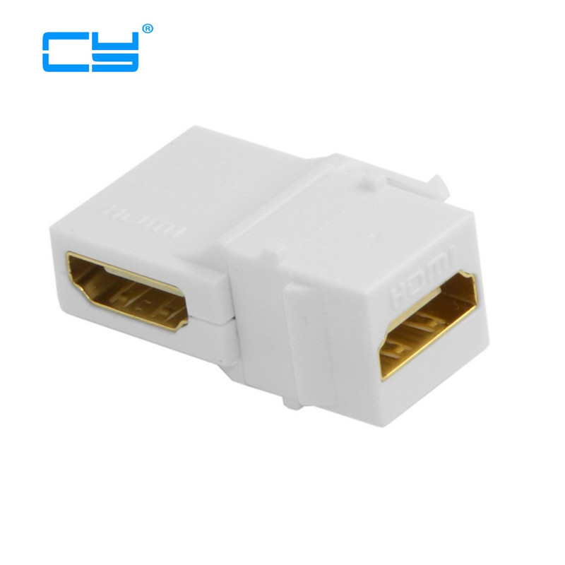 90 Degree Right Angled HDMI 1.4 Snap-in Female to Female Keystone Jack Coupler Adapter for Wall Plate White techlink wiresnx2 right angled hdmi a plug to hdmi a plug 3m 710493