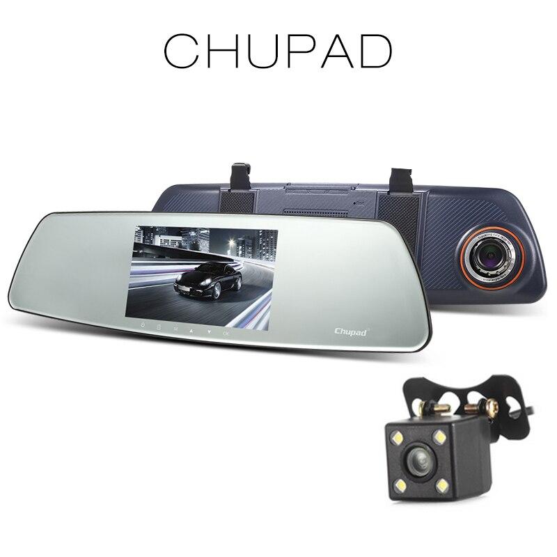 chupad R11 5-inch Dash Cam Car DVR 720P IPS Touch Screen 150 degree Dual Camera G-sensor Car Driving Recorder