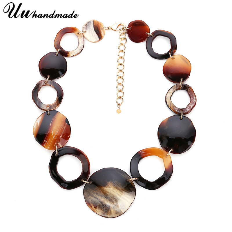 Statement retro acrylic jewelry choker necklace pendant custom wholesale accessories MOQ120 shipment time is about 25