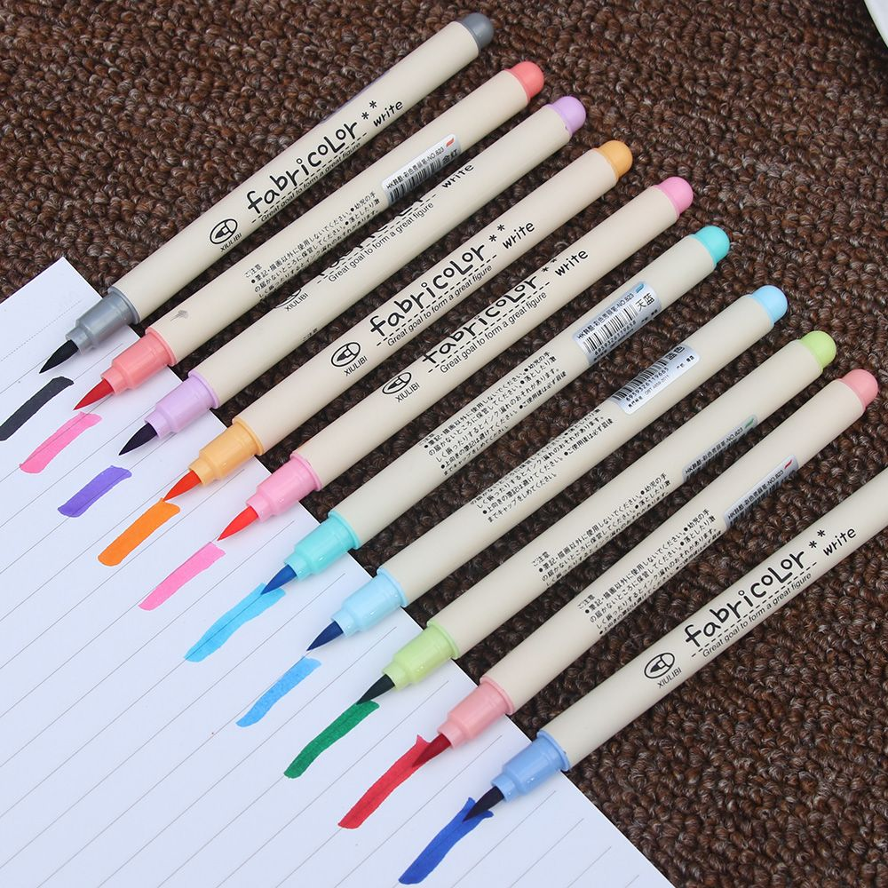 10 pcs Fabricolor touch write brush pen Color Calligraphy marker pens set Chinese Stationery Drawing art School supplies