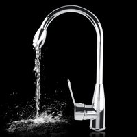 Alloy Chromed Hot Cold Mixer Water Tap Basin Kitchen Bathroom Wash Faucet