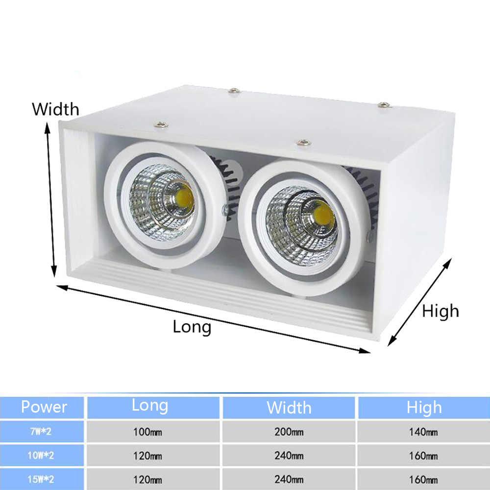 Led bean Галогеновый светильник решетка света 7 Вт квадратная потолочная прожектор 10 Вт COB bean Галогеновый светильник ing 15 Вт двухточечный светильник