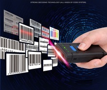 Blueskysea MJ2877 Карманный Беспроводной Лазерный Сканер Штрих-Код Bluetooth для IOS Android Мобильного Телефона Таблетки Windows PC Бесплатная Доставка!