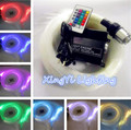 Plugue DA UE! NOVA 16 W RGB 24key remoto LED Kit Luz de Teto Estrela De Fibra Óptica 300 pcs 2 M 0.75mm fibra óptico de iluminação