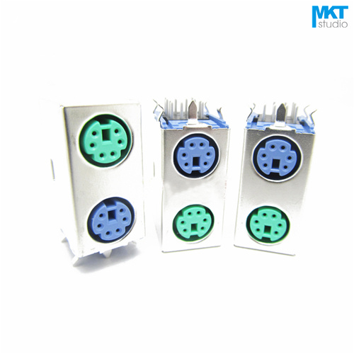 Useful 100pcs Double Purple+green Female 2x6 Pins Ps/2 Ps 2 Pcb Socket Jack Connector For Mouse&keyboard Lights & Lighting Lighting Accessories