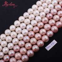 Free Shipping 9 9 5mm Nearround Natural Freshwater Pearl Gem Stone For Necklace Bracelat Jewelry Making