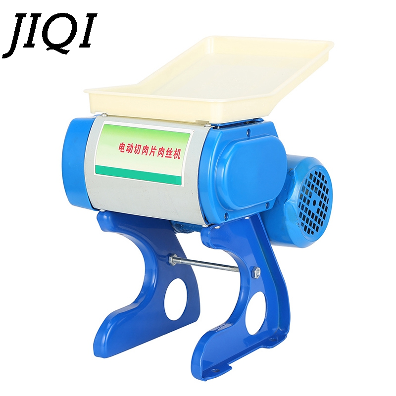 JIQI Commercial Electric Meat Slicer Grinder Stainless Steel Cutting Blade Machine Automatic Lamb Beef Mincer Mutton Roll Cutter