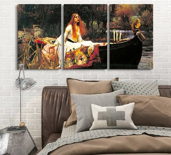 3 Panel World Famous Painting Reproduction on Canvas Wall Art - The Hungry Lion Throws Itself on The Antelope  Drop shipping