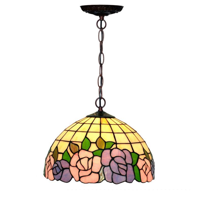 Italian Rural Rustic Stained Glass Hanglamp E27 Bulb,LED Plant Blue Flower Hanging Pendant Lamp Light Kids Room Bedroom Lighting ol 9572 xbфигура сова физик sealmark
