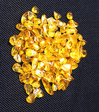 50g Natural quartz crystal yellow gravel wholesale