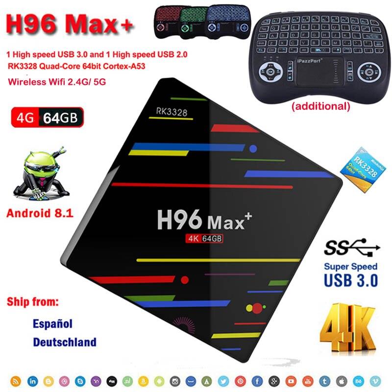 android 8 1 smart tv box H96 MAX 4GB ram 64GB rom Media Player Quad Core