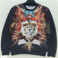 2015 New fashion  women /men's hoody  Animal lion  3d print  thin hip hop 3d  men sweatshirt   hoodies pullover