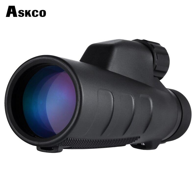 Askco 15x50 High Times Optics Monocular Telescope Waterproof for Hunting Telescope Binoculars High Power with BaK4