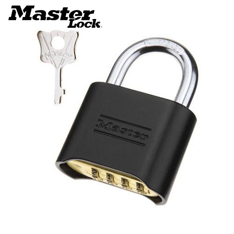 US $18 99 40% OFF|MASTER LOCK Brass Password Combination Code Lock Padlock  Anti theft Tamper proof Anti corrosion Anti rusting Waterproof 178MCND-in