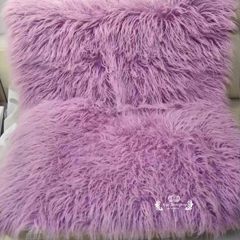 Newborn Photography Props Baby Blanket Faux Fur Rug Stuffers Basket Flokati Stuffer Soft Long Fur Backdrop Fotografia