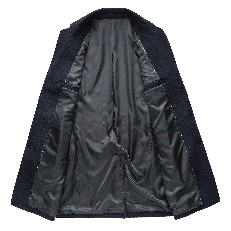 Nouveau Et Manteau Virages Vêtements Pardessus gris Homme Blue Mode D'hiver Mâle Automne Laine Dk 1889 Des Hommes De Long pXwqdtX