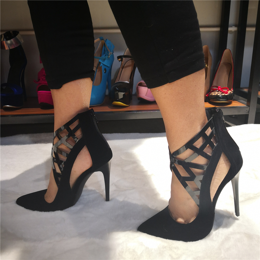 DoraTasia Brand Design Big Size 35-47 Sexy Pointed toe Party Prom  Women Shoes Woman thin High Heels sandals Date pumps