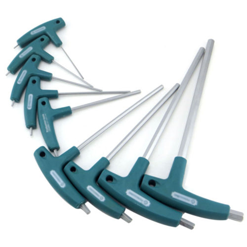 1.5~10mm Allen Hex Key T Shaped Wrench Inner Six Angle Screwdriver Plastic+CRV Ergonomics Designed T Handle, Comfort To Grip