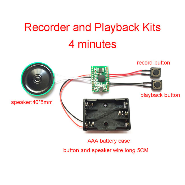 4c64965b383 4 minute Recording and Playback Voice IC Chip Sound Module DIY Kits Recorder  Record Play Pen