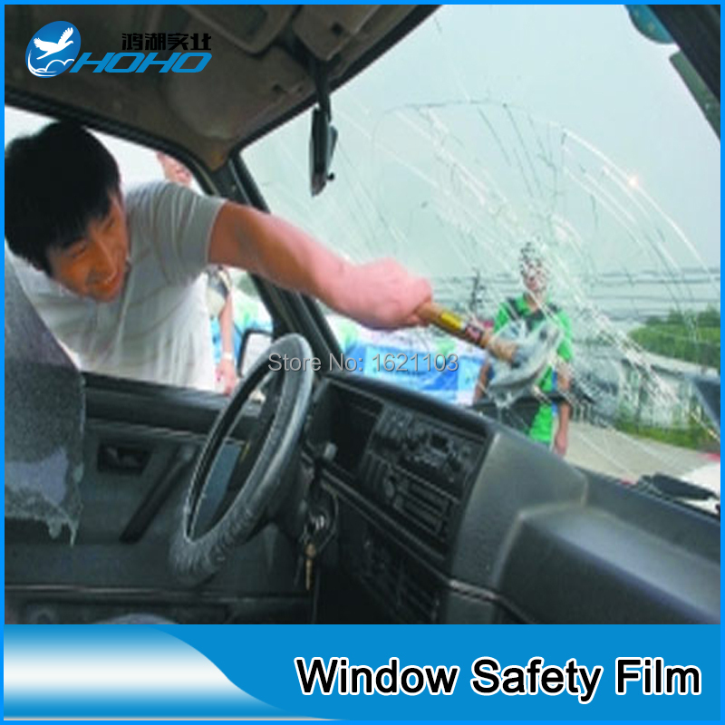 Provides A Clear Window Security Film That Applies To Glass To