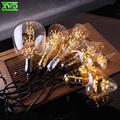 Vintage Retro Light Bulbs A19 ST58 G80 G95 G125 Diamond,Firework Starry,3W,Edison LED E27 Light Bulb,Supper warm,Christmas gift