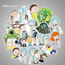 36Pcs/bag American Drama Rick and Morty Funny Sticker Decal For Car Laptop Bicycle Motorcycle Notebook Waterproof Stickers(China)