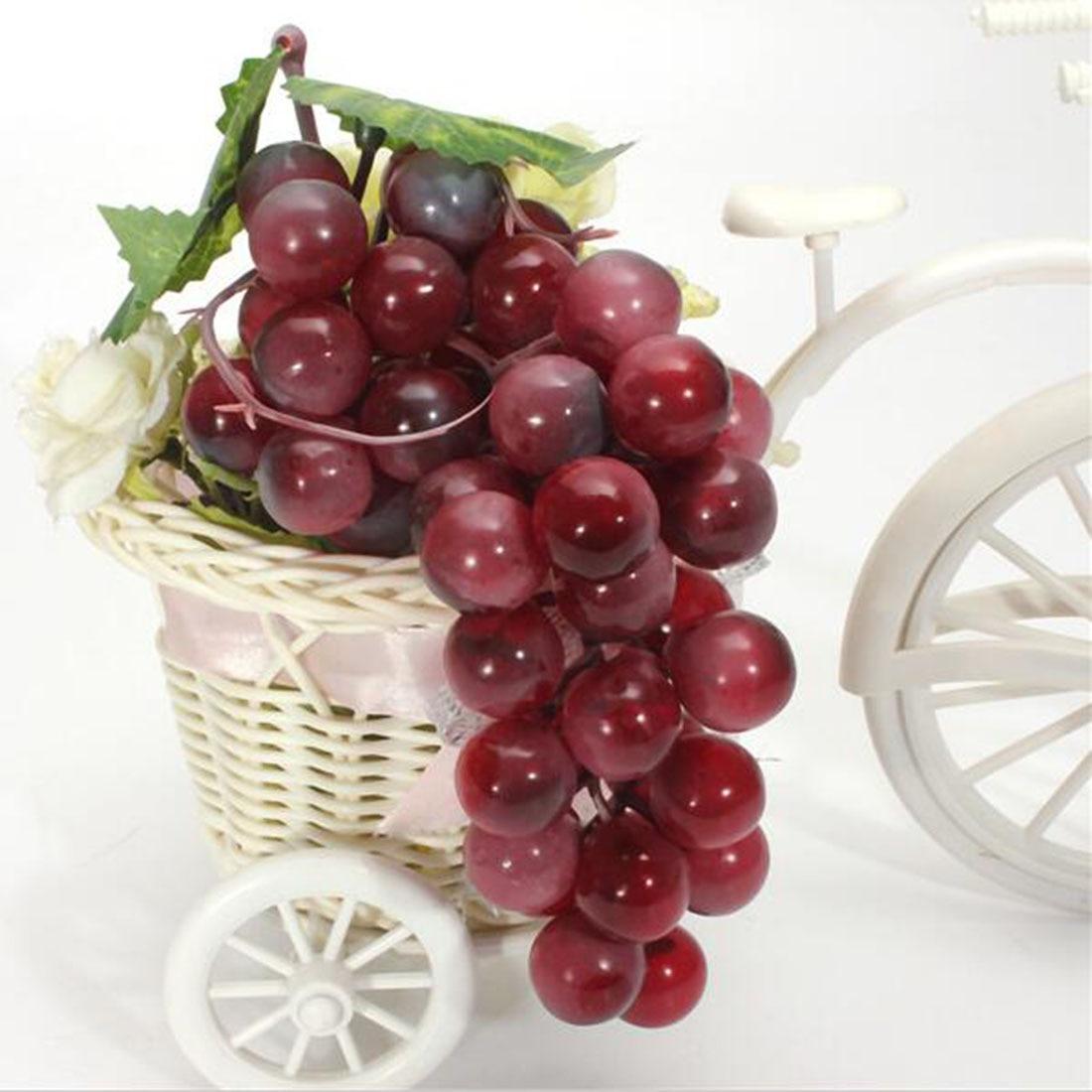 Hot sale lifelike 22 85pcs grain artificial grapes plastic for Artificial fruit for decoration