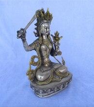 100% Tibet Silver Gold gilt Buddha statue ,Knife Buddha High 22CM,wide14CM