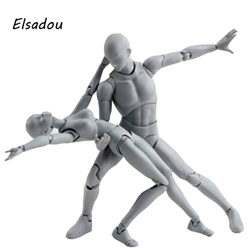 Elsadou Body Kun SHF Figuarts Archetype He She Action Figure Color DIY Figure Bodykun Action Figure Model Toy archetype transparent ver she