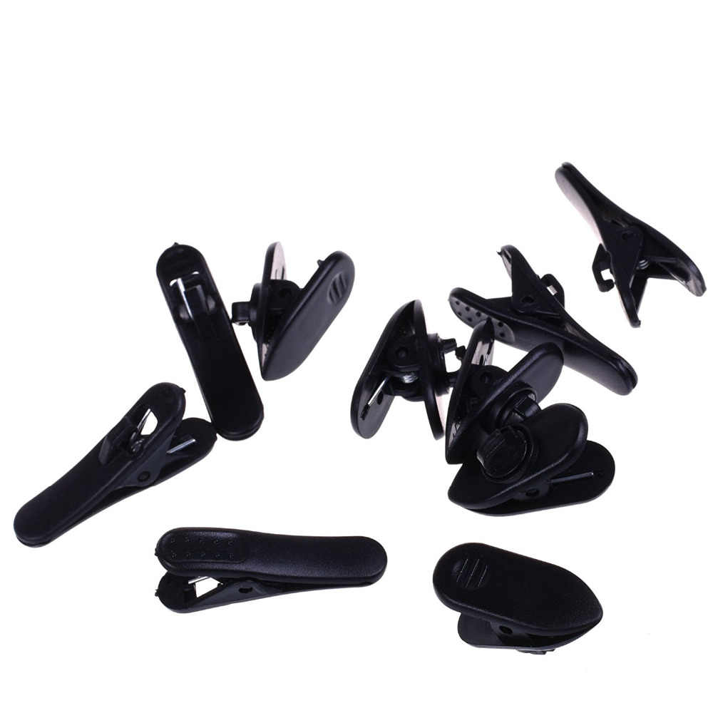 XRHYY Black Color 5pcs Cord Clip Holder+5pcs Rotate Mount Headphone Headset Cable Cord Clip Holder