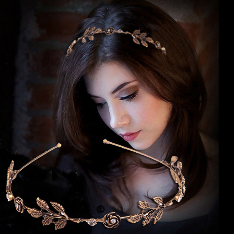 Trendy Hair Jewelry For Women's Delicate Crystal Rhinestone Handmade Headbands Bride Hair Band Romantic Wedding Hair Accessories