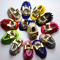 Hot Sale 2016 Glitter Bow Knot Decor Newborn Baby Elastic Band Handmade Sewing Mixed Color Soft Soled Tassel Fashion Prewalker