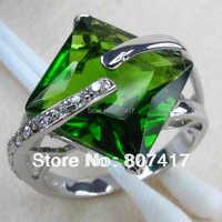 Fashion 925 Silver Peridot Crystal Casual RING R906 Sz 6 7 8 9
