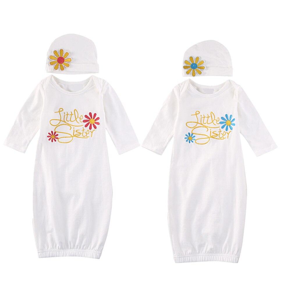 2018 Pasgeboren Baby Meisje Nemen Thuis Outfit Zusje Slaap Zakken Set Baby Gown Hoed Set Waterdicht, Schokbestendig En Antimagnetisch