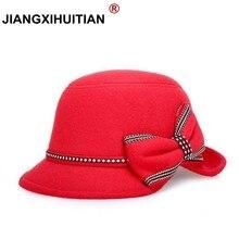 Фетровая шляпа с широкими полями, фетровые шляпы для женщин, большой бант, Осень-зима, chapeu feminino sombrero, флоппи котелок, женская панама