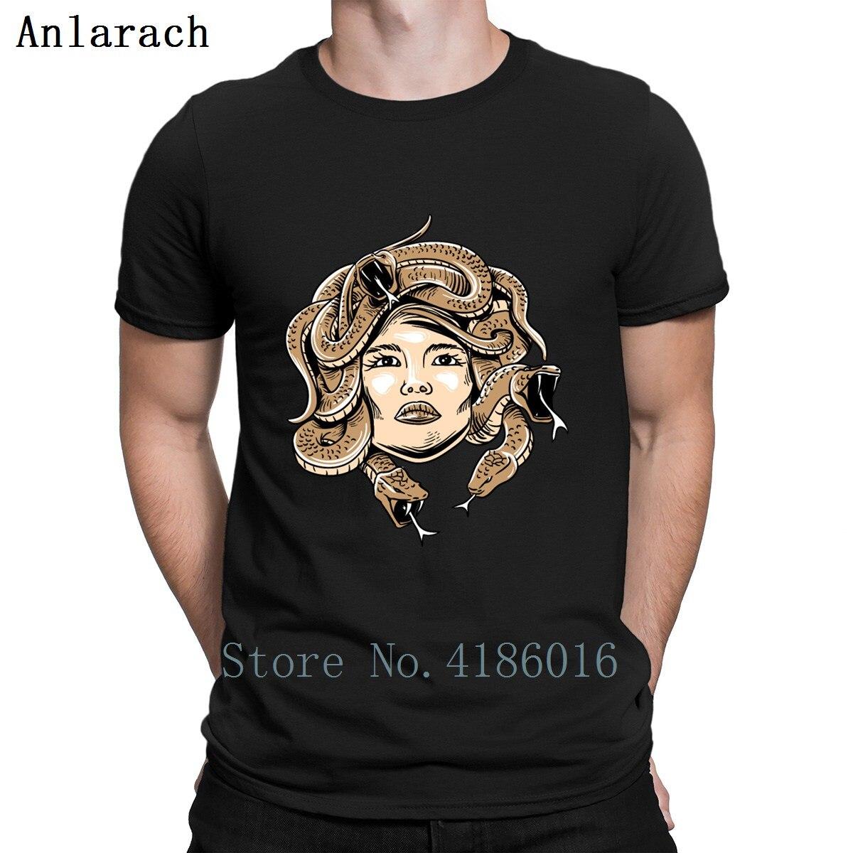 Greek Mythology Shirt Medusa Head Monsters Snake T Shirt Clever Summer Euro Size S-3xl Design Funny T Shirts Basic Solid Letter