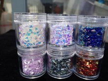 1 Box (10ml) AB Chameleon Unicorn Glitter, Triangle Spik Sequins, Konfetti för 3D Nail Art Decorations Nail Flakes UV Gel Polish