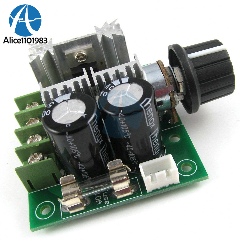 10a 12v-40v Dc Pulse Modulation 13khz Pwm Dc Motor Adjuster Speed Control Switch Module Ccmhc Board 0.01-400w 13khz Diy Kit Active Components Integrated Circuits