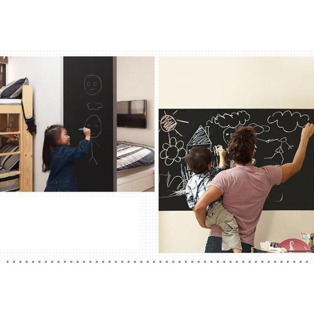 90x300 cm adhésif tableau noir Film vinyle dessiner décor Mural craie conseil bâton rouleau craie tableau noir autocollants pour enfants