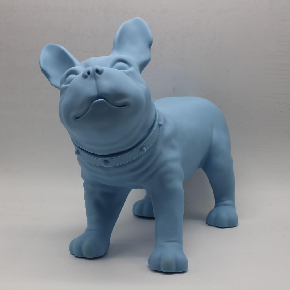 Blue Plastic French Bulldog Dog Mannequin Sale For Pet Shop Display