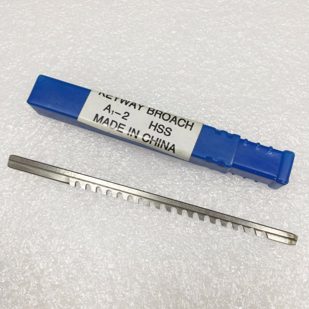 2mm A Push-Type Keyway Broach Metric Sized High Speed Steel For CNC Cutting Machine Tool