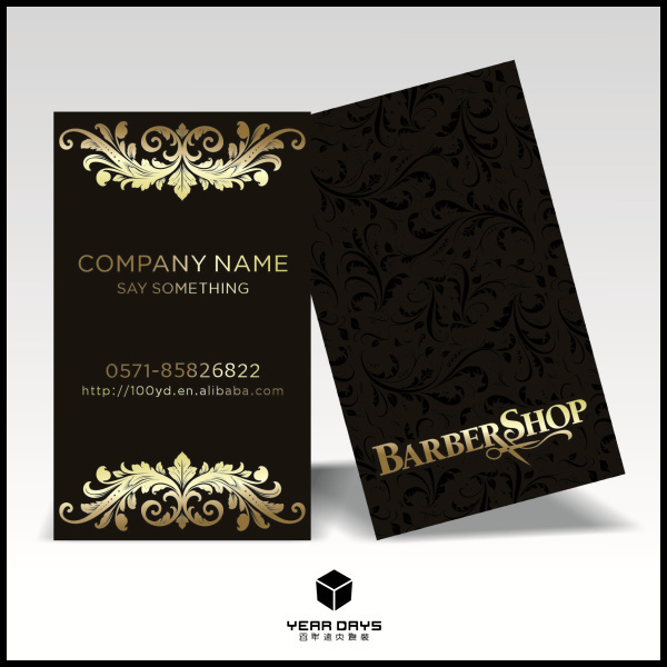 attractive design 600gsm black cardboard customized