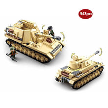 Military series WW2 Half tracked personnel carrier Battle of Stalingrad Panzer IV Building Blocks Toy for Children gifts(China)
