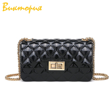 купить 2019 new women shoulder bag messenger bag Diamond Lattice PU fashion shoulder bag girls clutch Solid color Flip hand bags по цене 671.2 рублей
